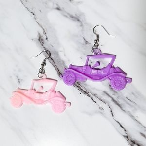 Vintage 1980's Car Charm Kitsch Toy Earrings
